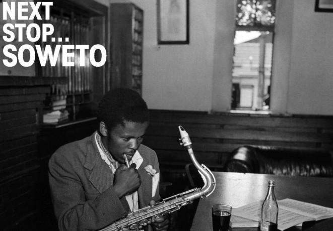"""Äußerst verdächtig: Jazz in Südafrika während der Apartheid. Wie diese Musik damals klang, lässt sich zum Beispiel auf der Compilation """"Next Stop . . . Soweto. Vol. 3: Giants, Ministers and Makers: Jazz in South Africa 1963 - 1984"""" nachhören, die 2010 beim britischen Label Strut erschienen ist (Detail des Album-Covers)."""