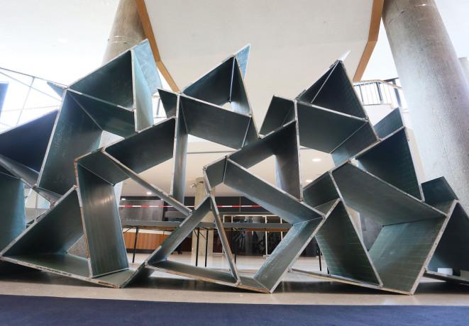 Installation im Rahmen von Schools of Tomorrow, raumlaborberlin, 2017 | Foto: HKW / Stephanie Pilick