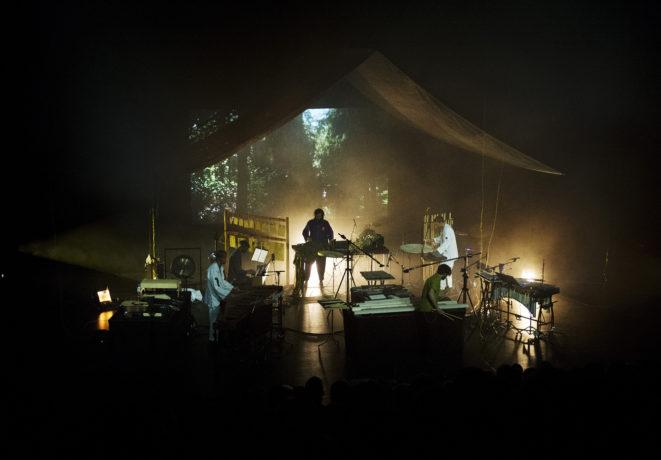 Konzert, Band auf Bühne,